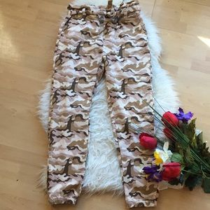 🌺high waist camouflage jogger🌺
